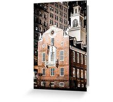 Old State House, Boston, Massachusetts Greeting Card