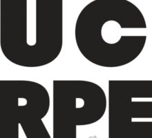 Buck Furpees (Black) Sticker