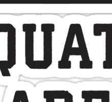 Boys Are Whatever, Squats Are Forever (Black) Sticker