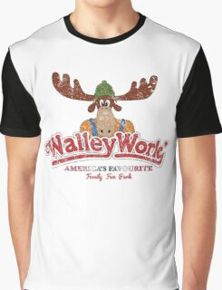 Walley World Logo With Text Distressed Graphic T-Shirt