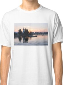 Soft Rose Daybreak at the Lighthouse Classic T-Shirt
