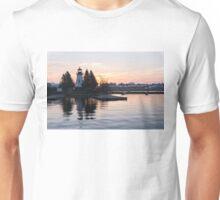 Soft Rose Daybreak at the Lighthouse Unisex T-Shirt