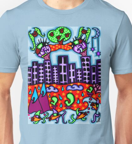 above and below the city Unisex T-Shirt