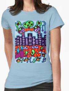 above and below the city Womens Fitted T-Shirt