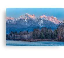 Ragged Ridge Sunset Reflections  Canvas Print