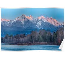 Ragged Ridge Sunset Reflections  Poster