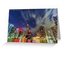 HDR Brisbane City Lights Greeting Card