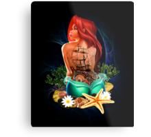 Lady Mermaid - Inked Metal Print