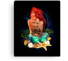 Lady Mermaid - Inked Canvas Print