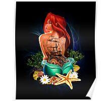 Lady Mermaid - Inked Poster