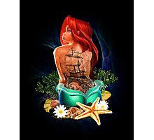 Lady Mermaid - Inked Photographic Print