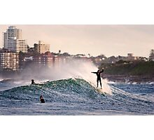 Sunset Surf Photographic Print