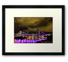 HDR Story Bridge Brisbane City Framed Print