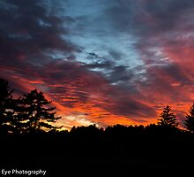 Sunset From Memorial Field- Concord, NH 10-11-13 by David Lipsy