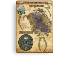 Morrowind The Elder Scrolls Map Canvas Print