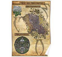 Morrowind The Elder Scrolls Map Poster