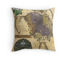 Morrowind The Elder Scrolls Map Throw Pillow