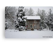 Snowfall in Jasper Canvas Print