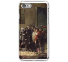 nightingale receiving the wounded at scutari a portrait by jerry barrett iPhone Case/Skin
