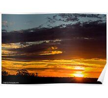 Parker River Wildlife Refuge Sunset -  Newbury, MA 11-06-13 Poster