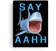 Say Aahh .. a sharks tale Canvas Print