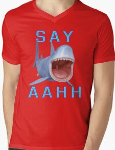 Say Aahh .. a sharks tale Mens V-Neck T-Shirt