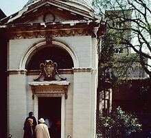 Entry to Dantes Tomb Ravenna Italy 198404140048 by Fred Mitchell