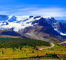 Columbia Icefields, Jasper National Park, Alberta Canada by bevanimage