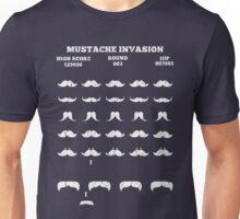 Video Game Parody T Shirt Mustache Invaders Unisex T-Shirt