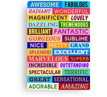 Awesome Words Canvas Print