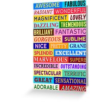 Awesome Words Greeting Card