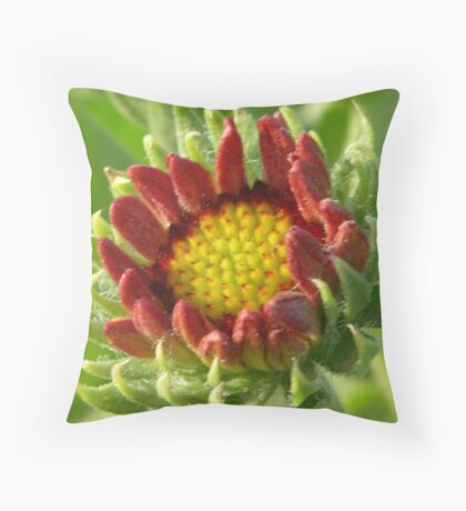 Green Red Yellow Throw Pillow