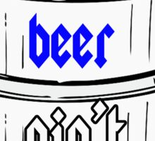 beer shirt. Sticker