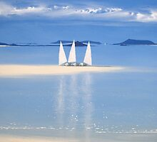 3 sail boats by richard pearce