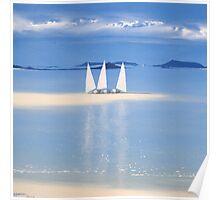 3 sail boats Poster