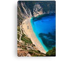 Myrtos beach & Casper the friendly ghost Canvas Print