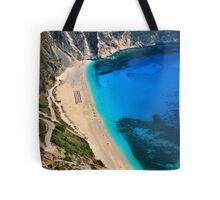 Myrtos beach & Casper the friendly ghost Tote Bag
