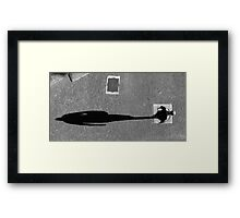 Pedestrian Black and White 5 Framed Print