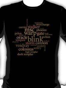 Starcraft Wordcloud - Protoss T-Shirt