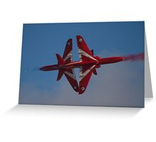 Red Arrows Synchro Cross Greeting Card