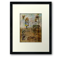 Alice's Adventures Framed Print