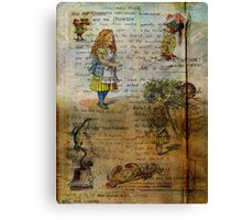 Alice's Adventures Canvas Print