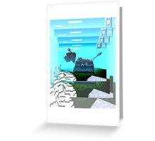 Minecraft K-9 Greeting Card