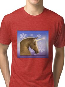 Christmas Unicorn Tri-blend T-Shirt