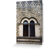 Palazzo Window Greeting Card