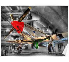 North American P-51D Mustang 2 - Hendon - HDR Poster