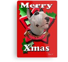 Merry Xmas from Bull Terrier Metal Print