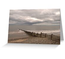 Sea defences Greeting Card