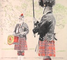 Lithgow Highland Pipe Band 1 by Peter Brandt