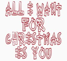 all i want for christmas by indigostore